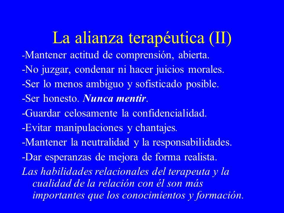 La alianza terapéutica (II)