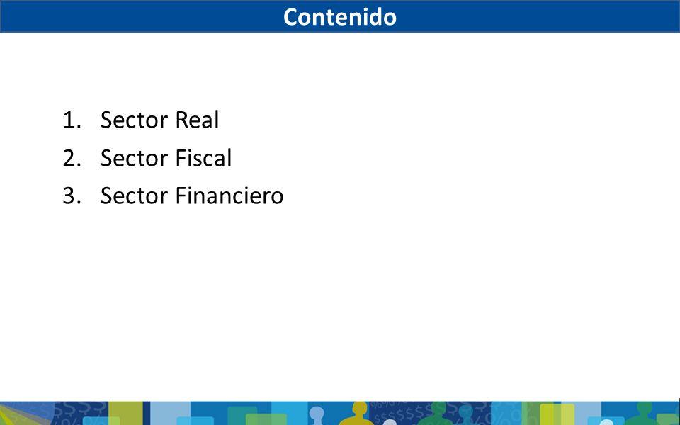 Contenido Sector Real Sector Fiscal Sector Financiero