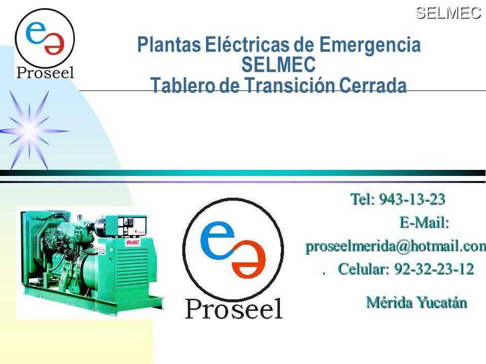 Plantas Eléctricas de Emergencia SELMEC Tablero de Transición Cerrada