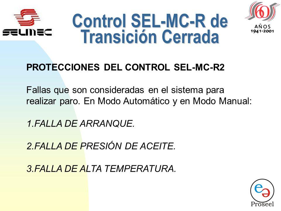 Control SEL-MC-R de Transición Cerrada
