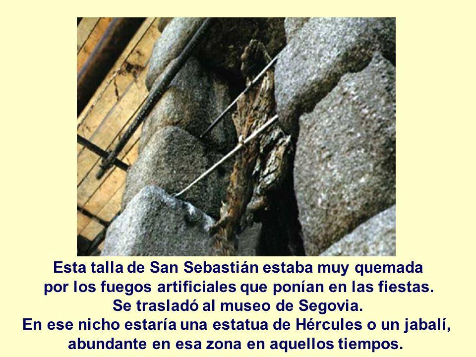 Esta talla de San Sebastián estaba muy quemada