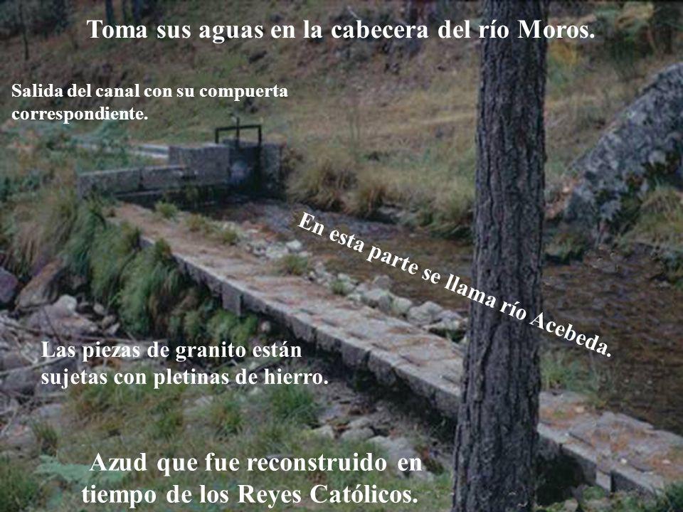 Descripción Toma sus aguas en la cabecera del río Moros.