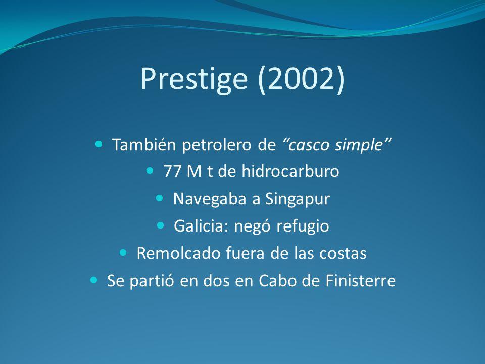 Prestige (2002) También petrolero de casco simple