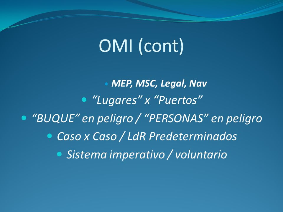 OMI (cont) Lugares x Puertos