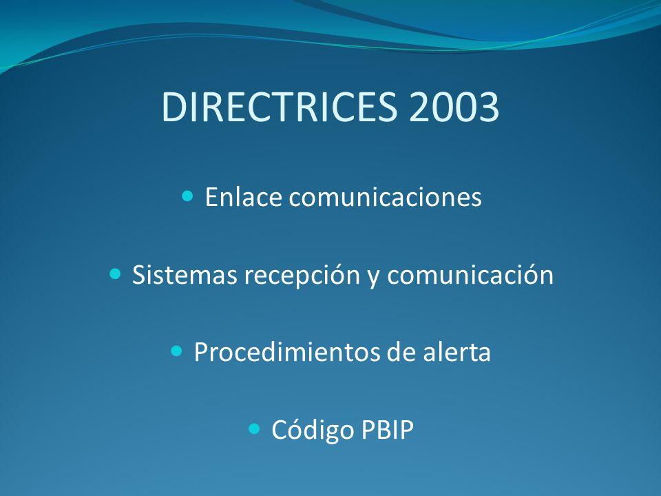 DIRECTRICES 2003 Enlace comunicaciones
