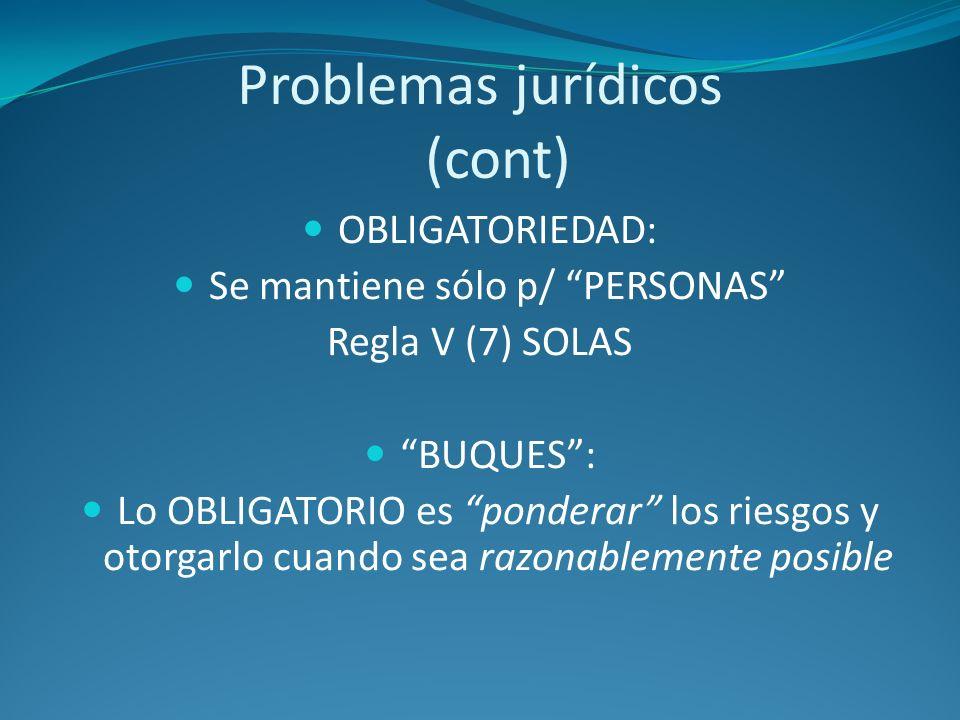 Problemas jurídicos (cont)