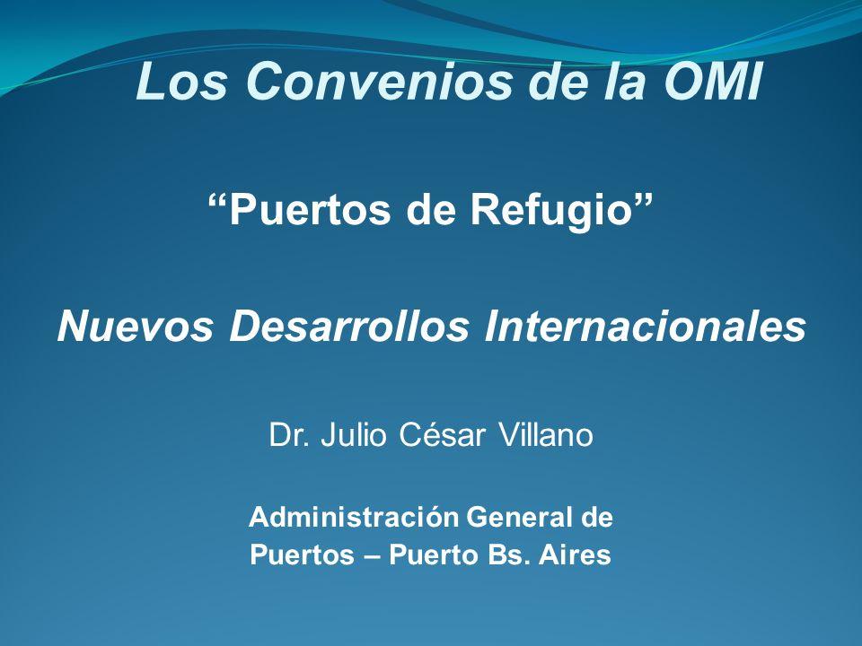 Los Convenios de la OMI Puertos de Refugio