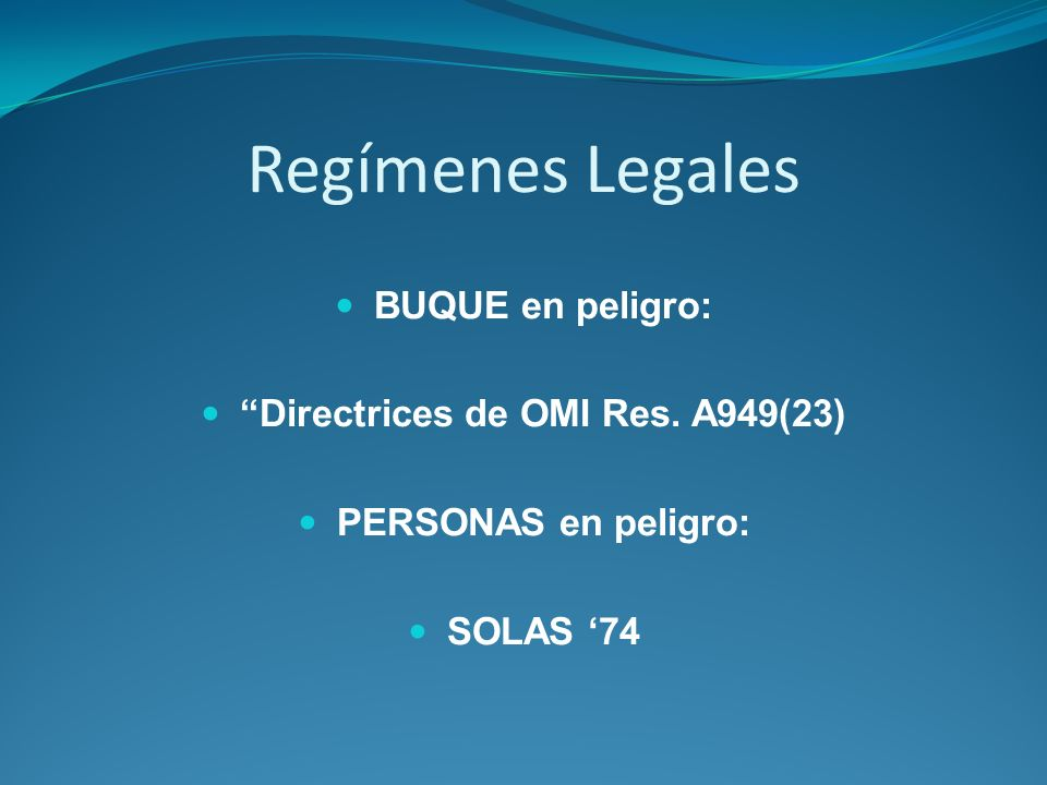 Directrices de OMI Res. A949(23)