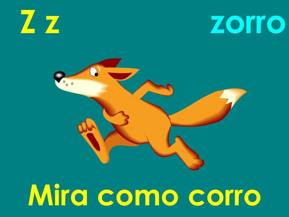 Z z zorro Mira como corro