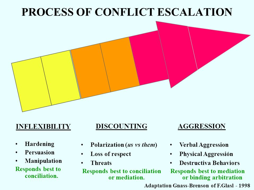 PROCESS OF CONFLICT ESCALATION