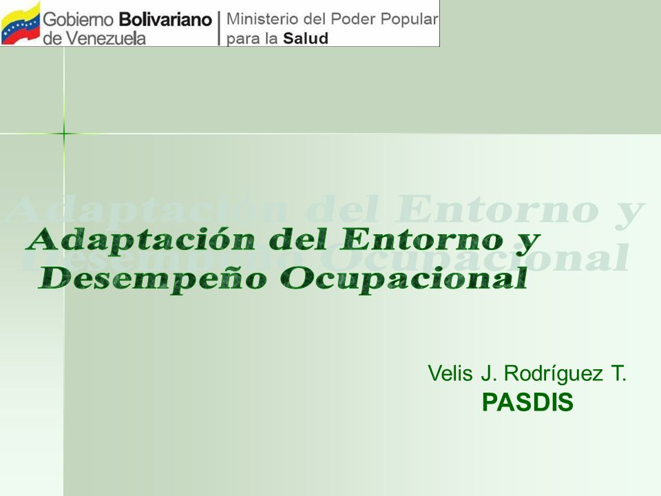 Adaptación del Entorno y Desempeño Ocupacional