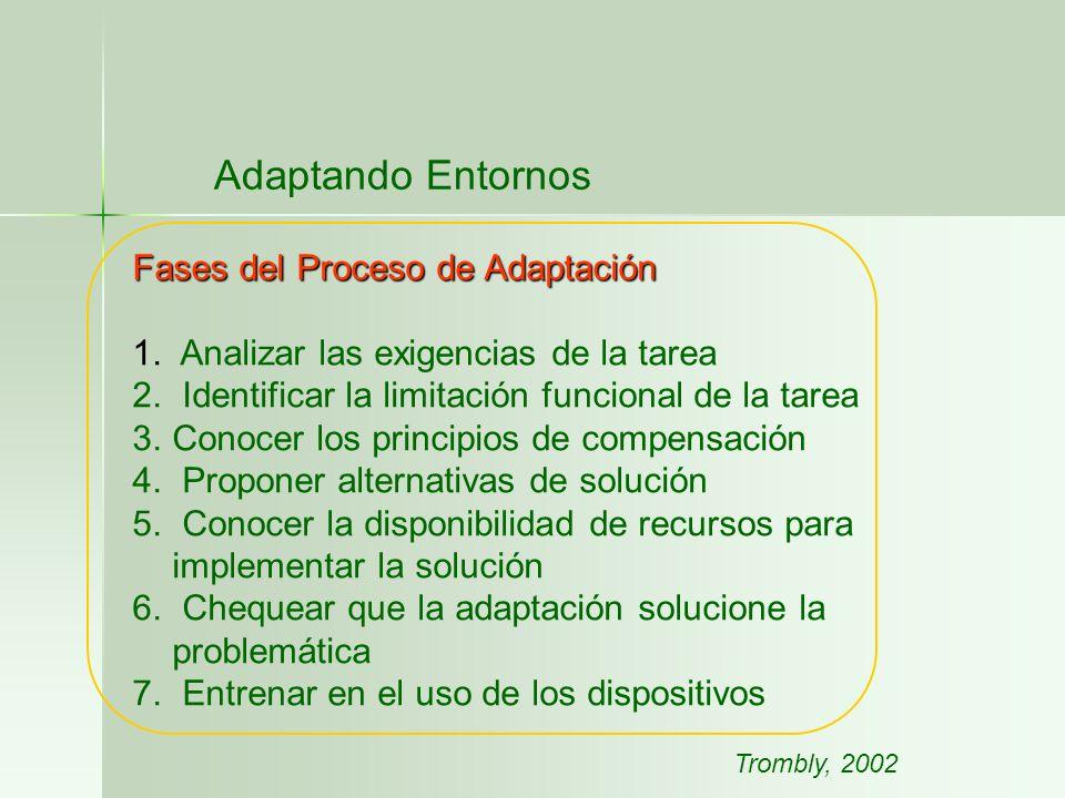 Adaptando Entornos Fases del Proceso de Adaptación