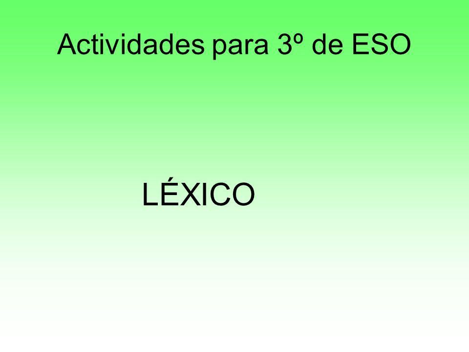 Actividades para 3º de ESO