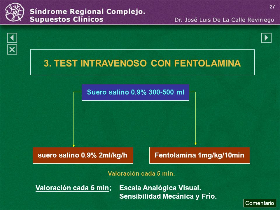 3. TEST INTRAVENOSO CON FENTOLAMINA