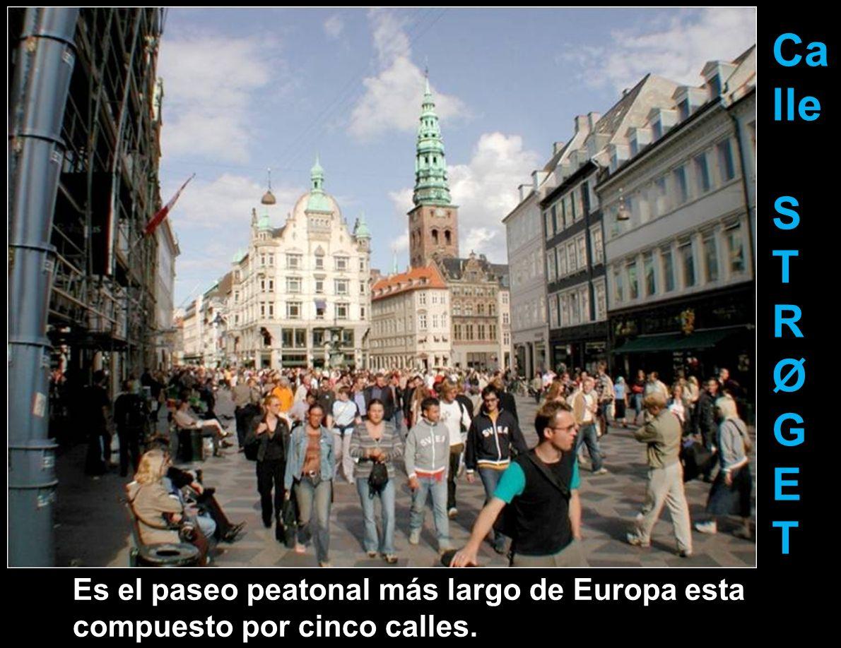 Calle S T R Ø G E Es el paseo peatonal más largo de Europa esta compuesto por cinco calles.