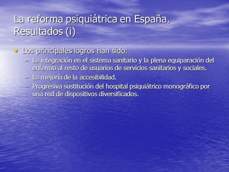 La reforma psiquiátrica en España. Resultados (i)