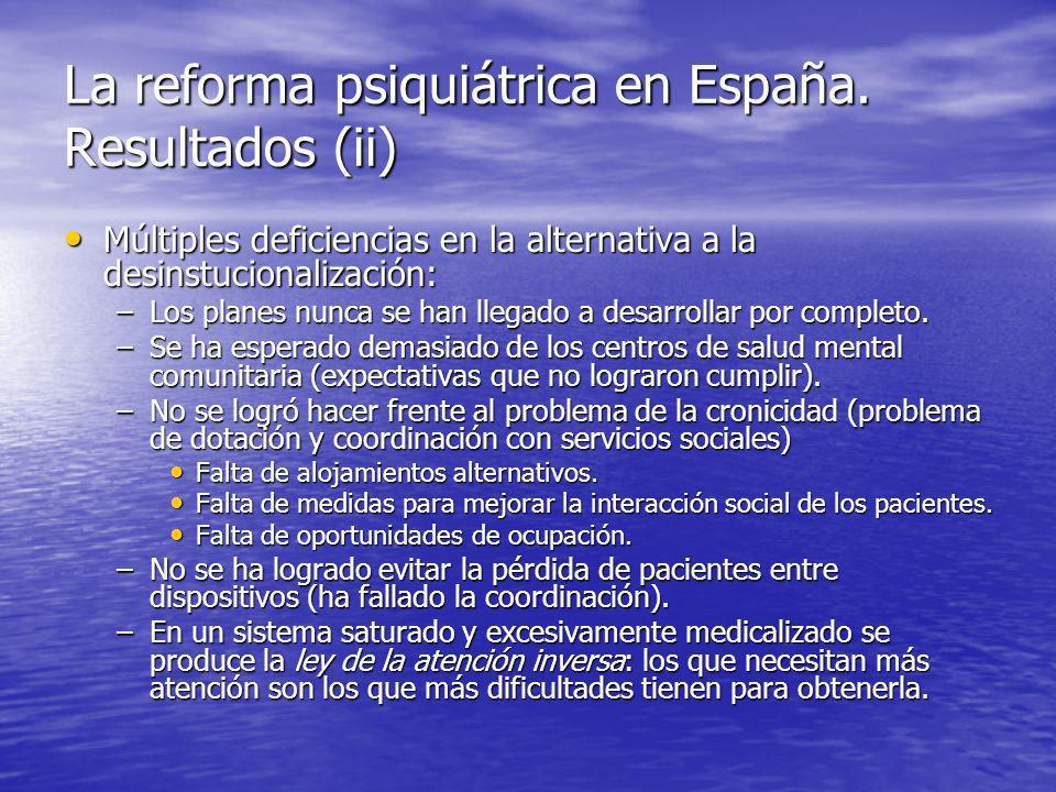 La reforma psiquiátrica en España. Resultados (ii)