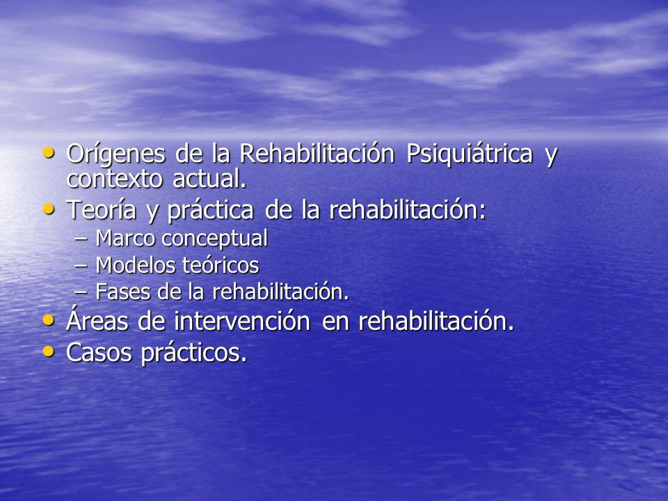 Orígenes de la Rehabilitación Psiquiátrica y contexto actual.