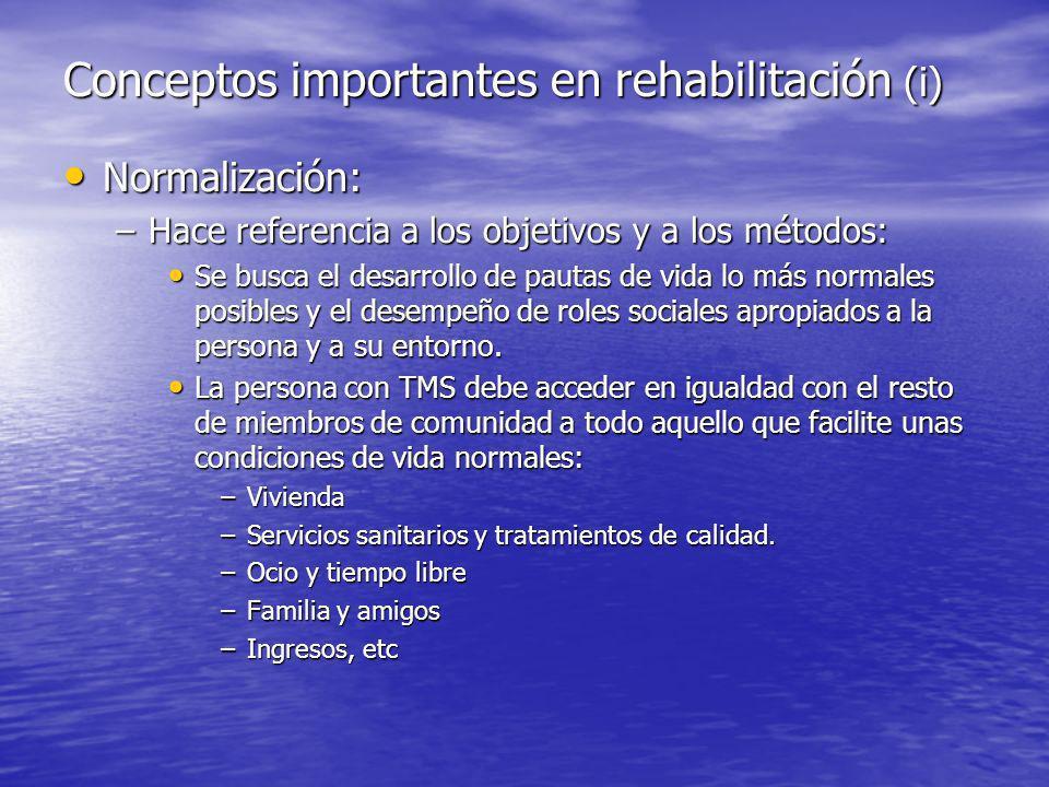 Conceptos importantes en rehabilitación (i)