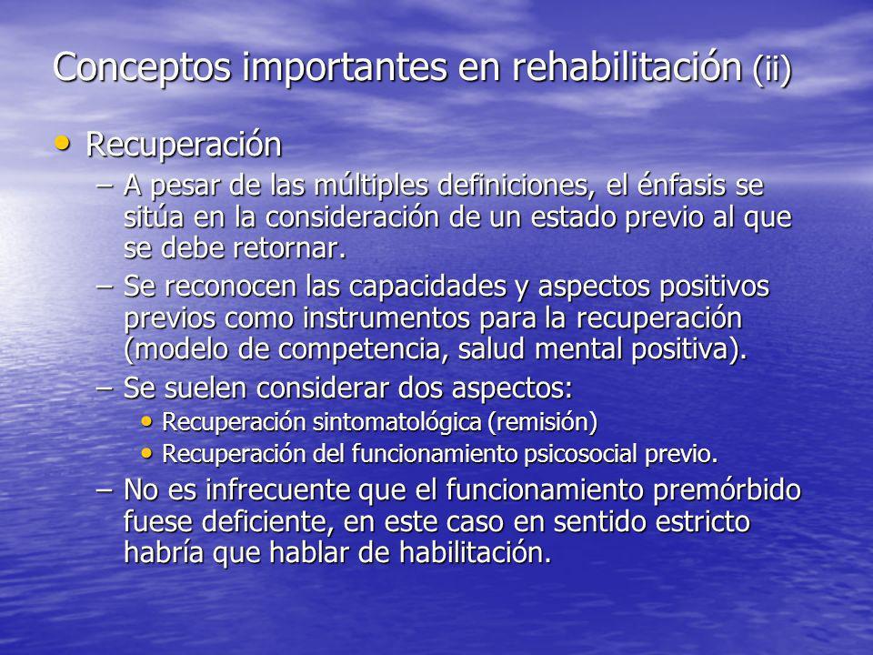 Conceptos importantes en rehabilitación (ii)