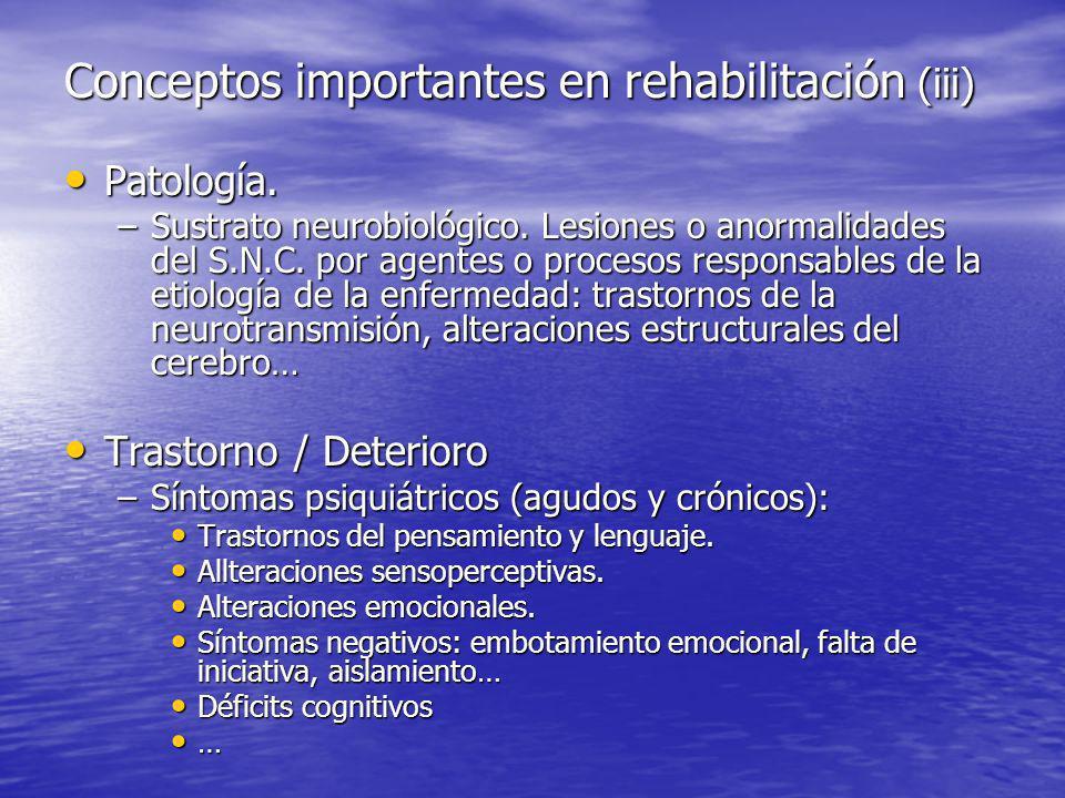 Conceptos importantes en rehabilitación (iii)