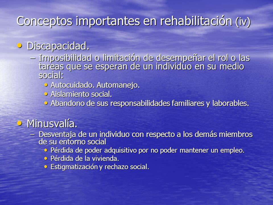 Conceptos importantes en rehabilitación (iv)