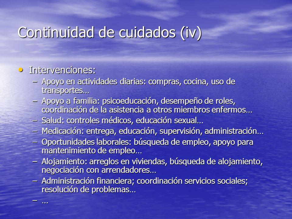 Continuidad de cuidados (iv)