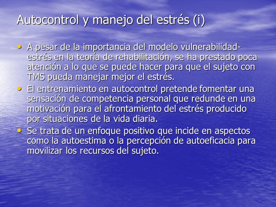 Autocontrol y manejo del estrés (i)