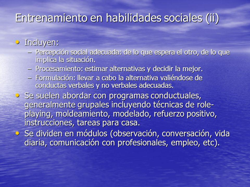 Entrenamiento en habilidades sociales (ii)
