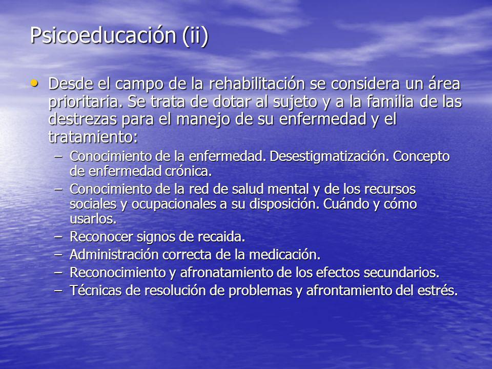 Psicoeducación (ii)