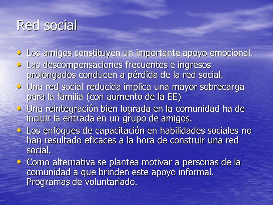 Red social Los amigos constituyen un importante apoyo emocional.