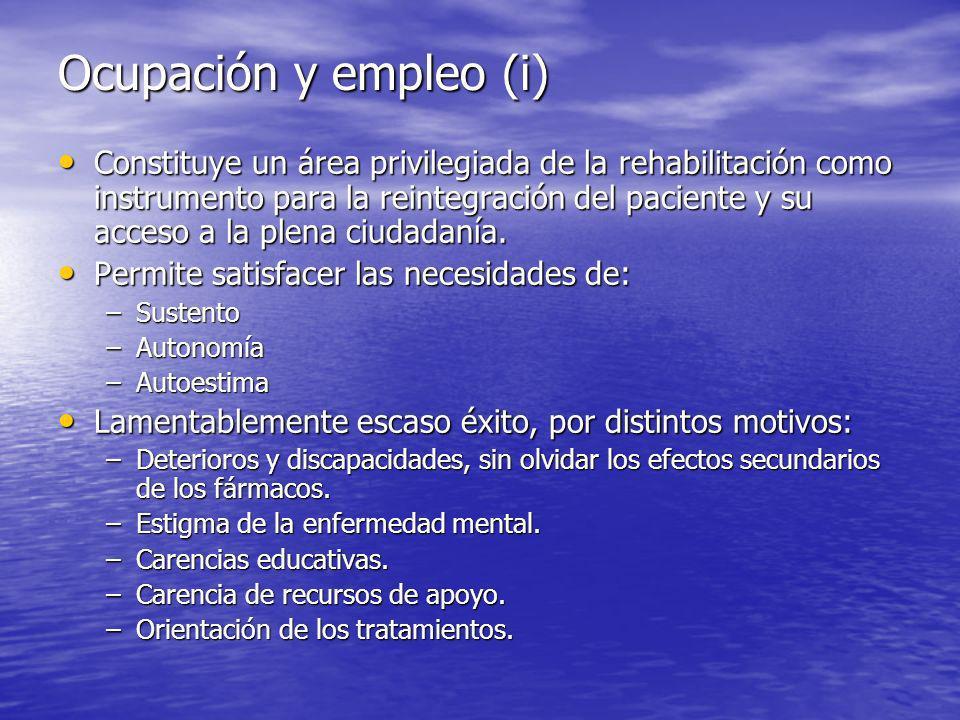 Ocupación y empleo (i)