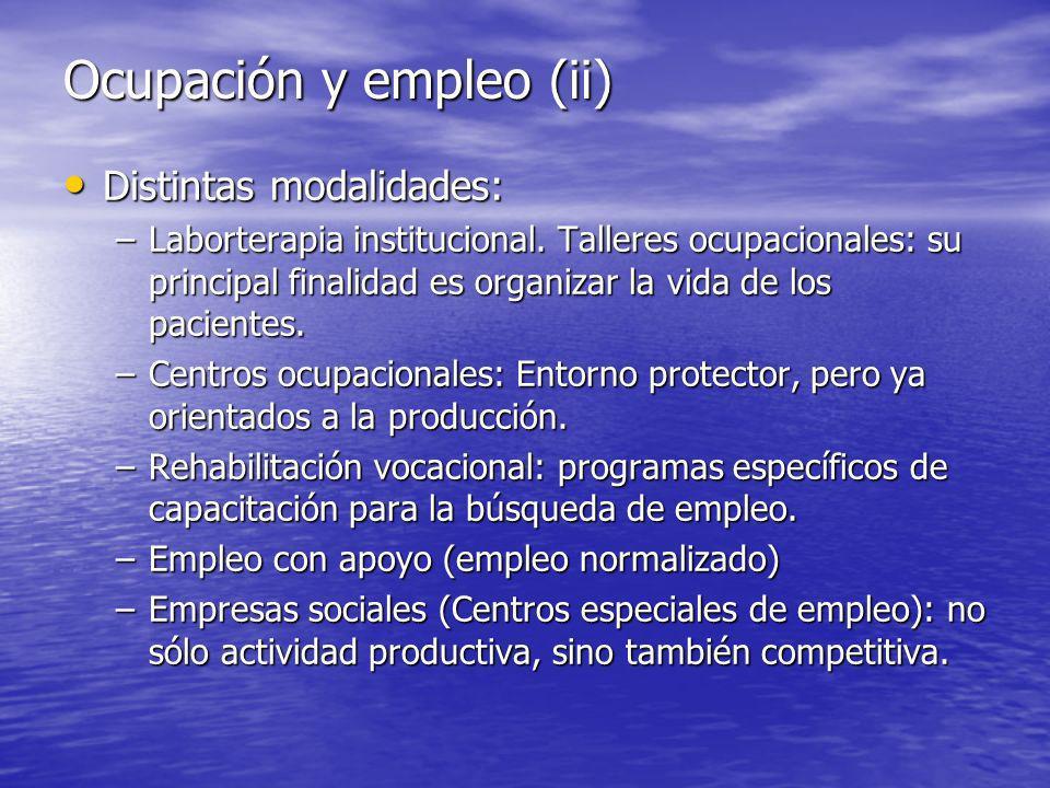 Ocupación y empleo (ii)