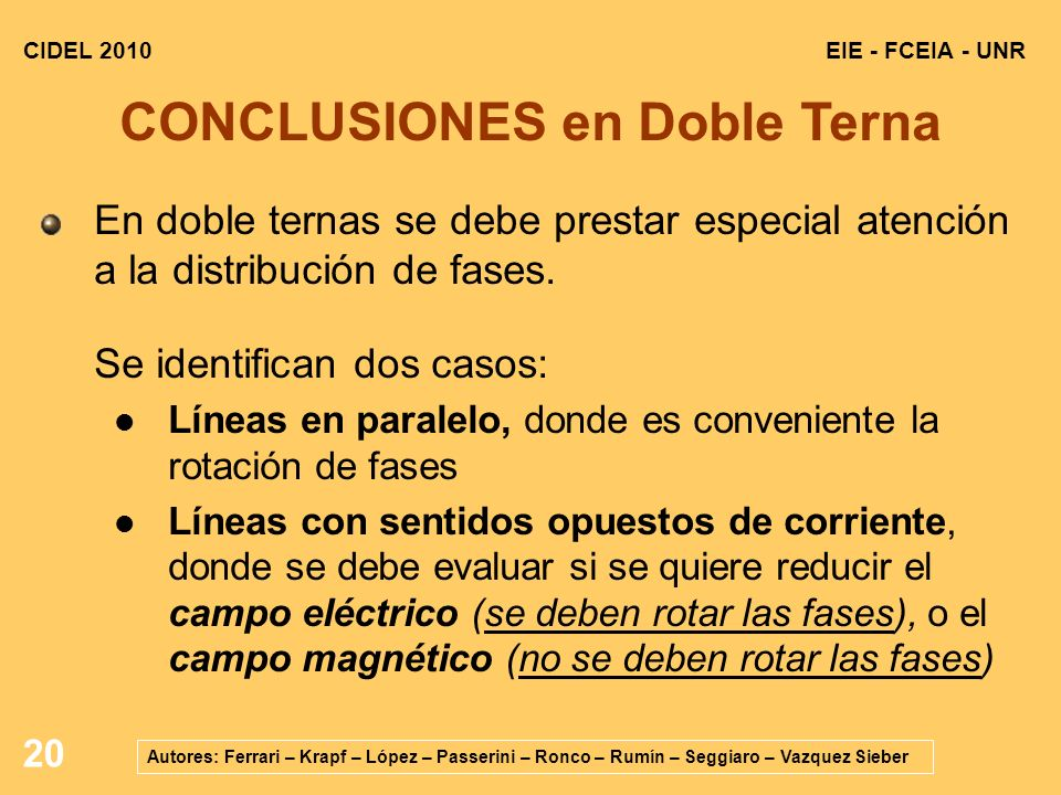 CONCLUSIONES en Doble Terna