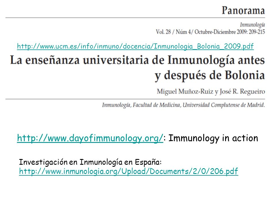 http://www.dayofimmunology.org/: Immunology in action