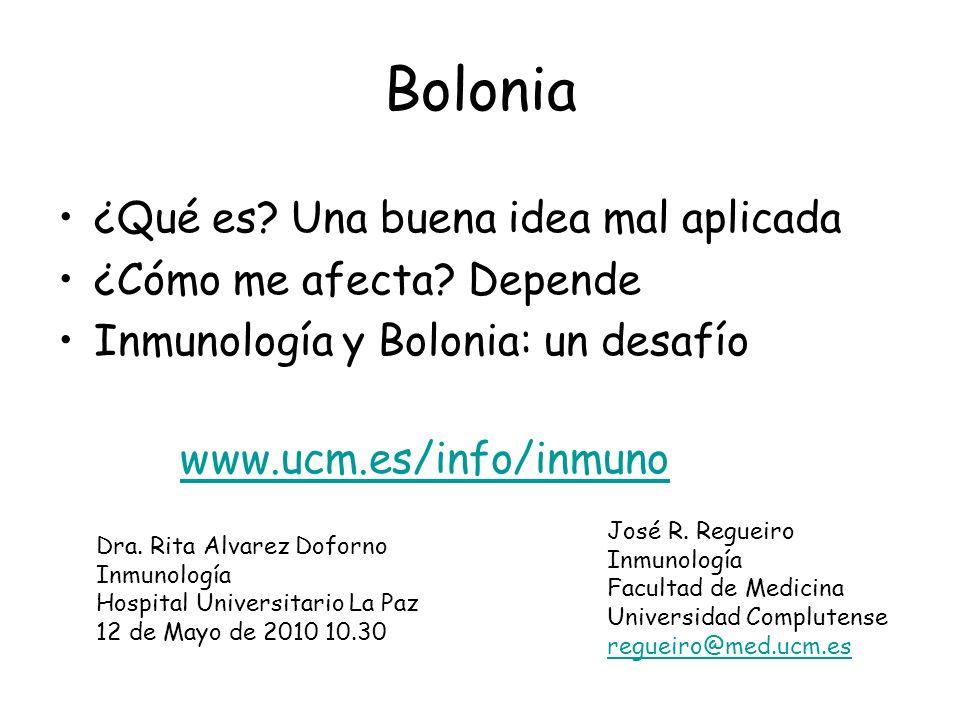 Bolonia ¿Qué es Una buena idea mal aplicada ¿Cómo me afecta Depende