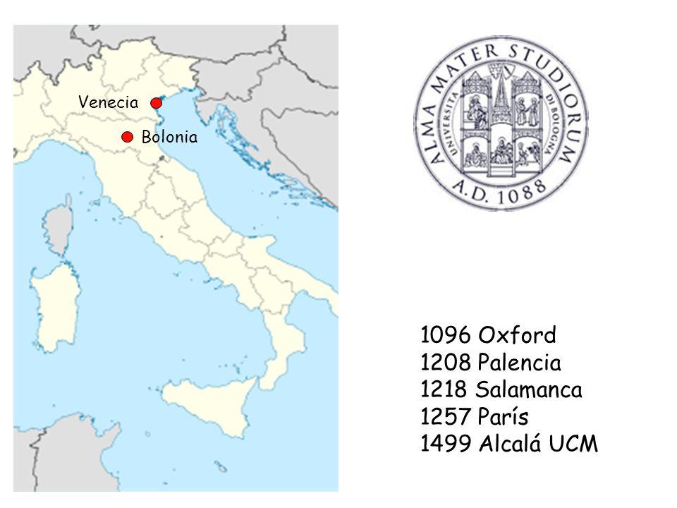 1096 Oxford 1208 Palencia 1218 Salamanca 1257 París 1499 Alcalá UCM
