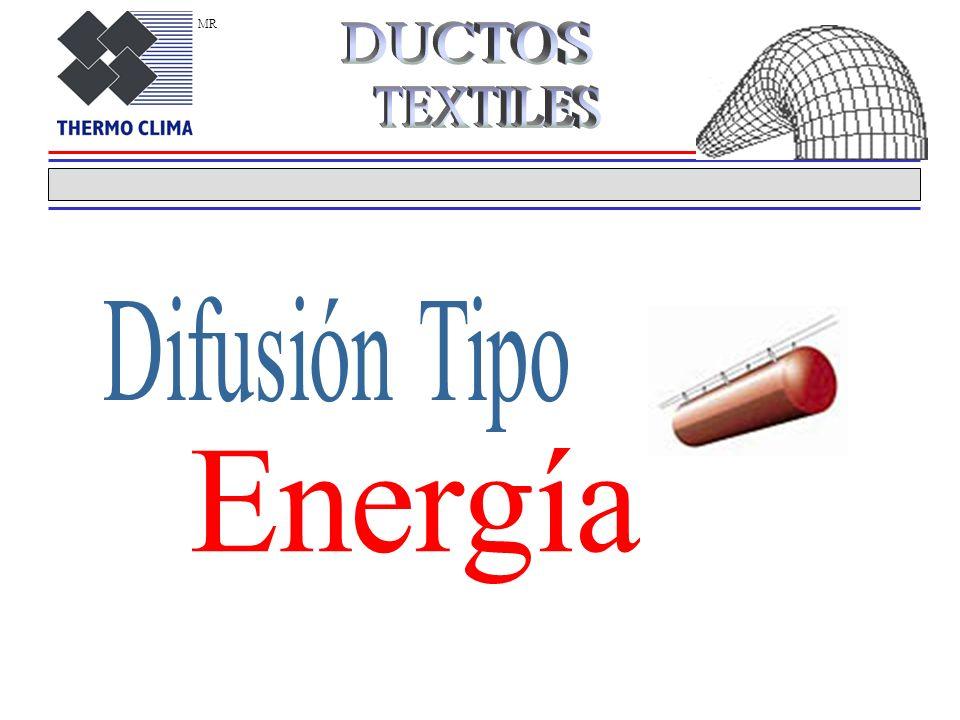 MR DUCTOS TEXTILES Difusión Tipo Energía