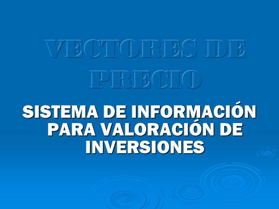 SISTEMA DE INFORMACIÓN PARA VALORACIÓN DE INVERSIONES