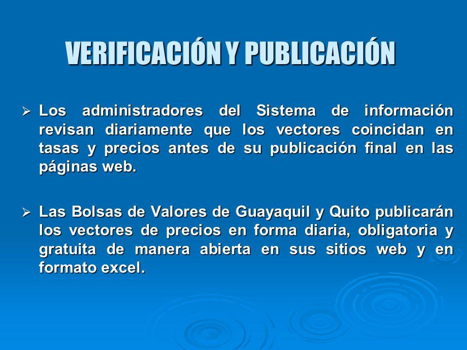 VERIFICACIÓN Y PUBLICACIÓN