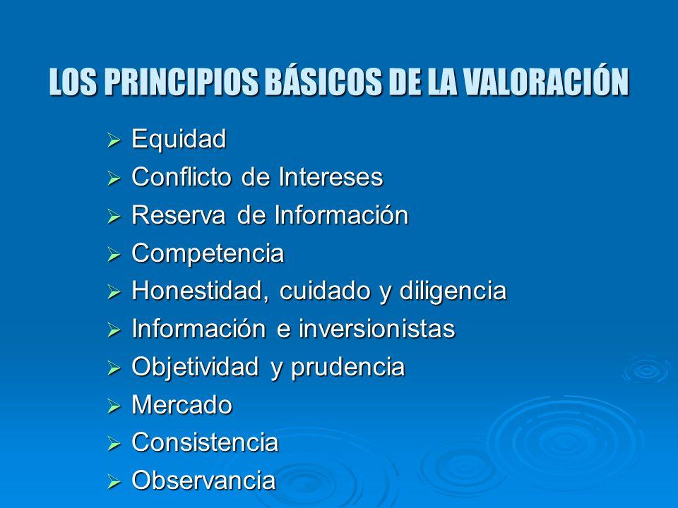 LOS PRINCIPIOS BÁSICOS DE LA VALORACIÓN