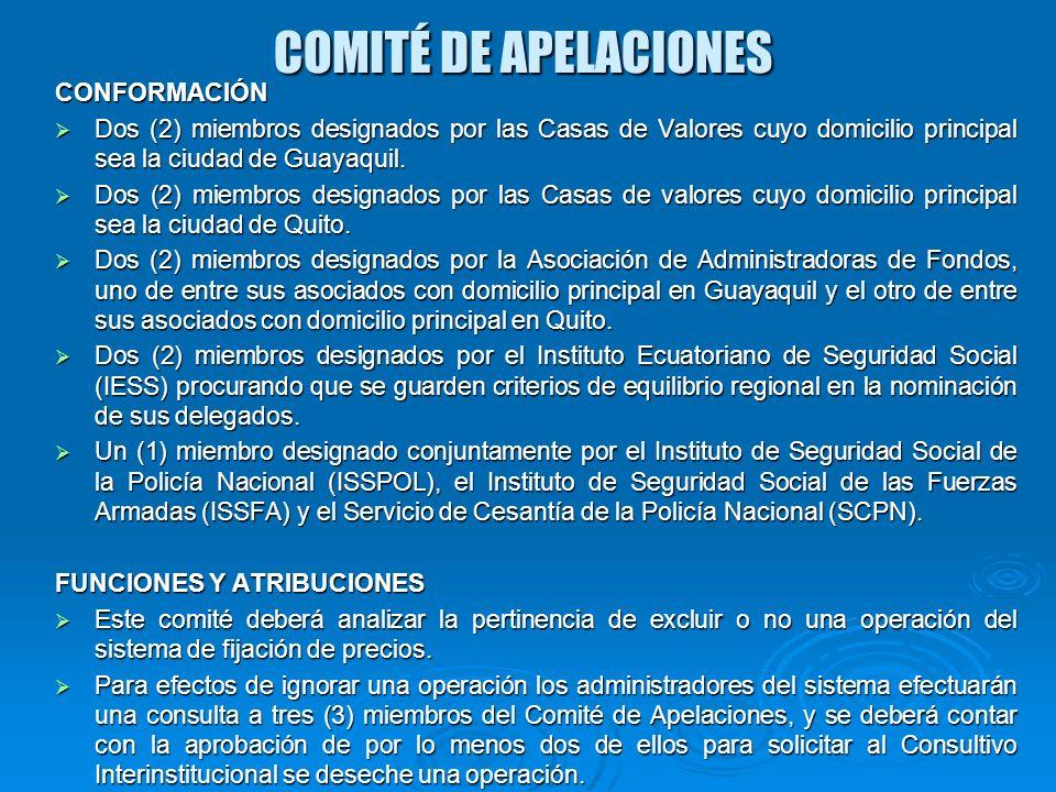COMITÉ DE APELACIONES CONFORMACIÓN