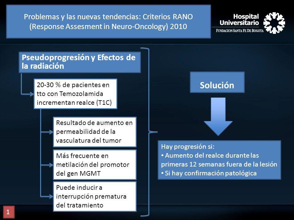 Solución Pseudoprogresión y Efectos de la radiación