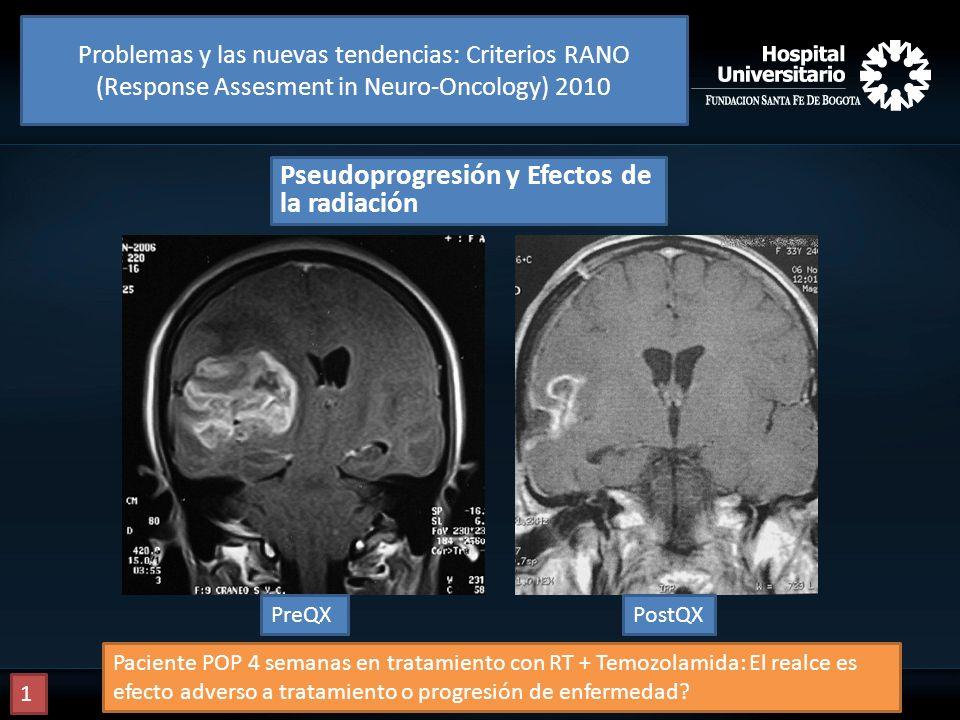 Pseudoprogresión y Efectos de la radiación
