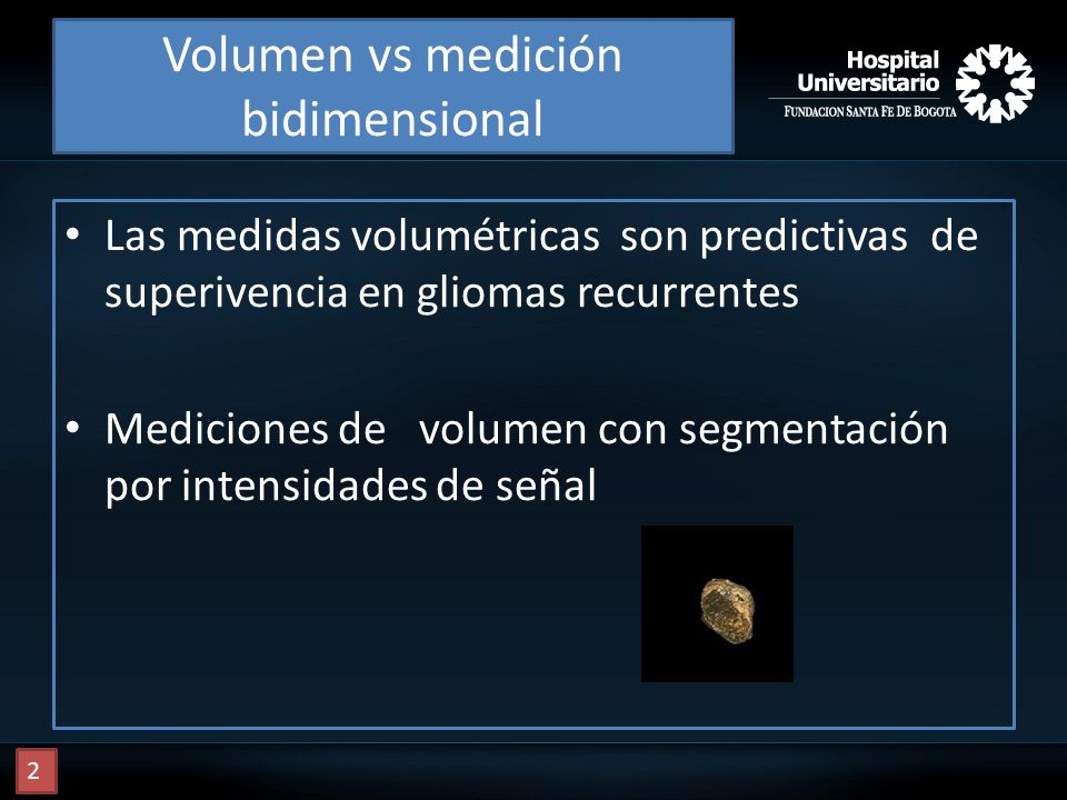 Volumen vs medición bidimensional