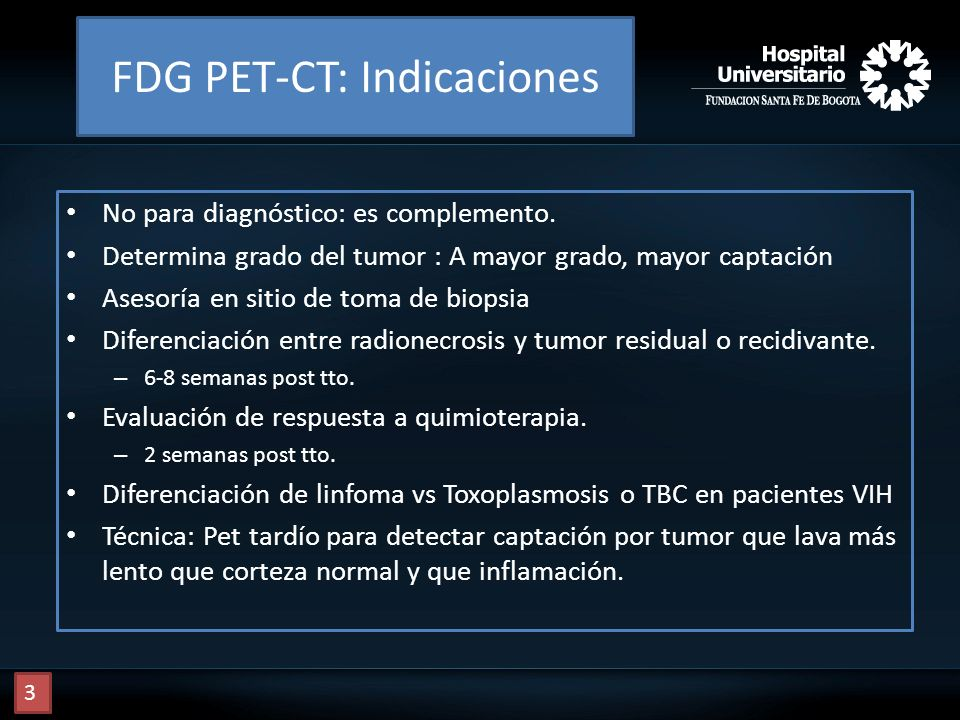 FDG PET-CT: Indicaciones