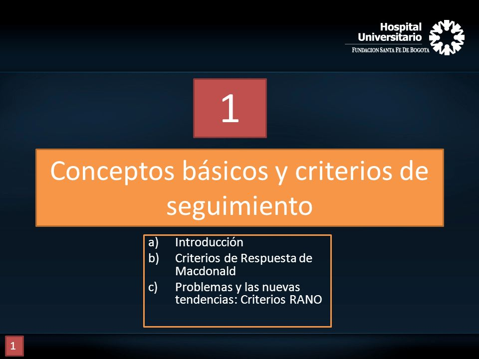 Conceptos básicos y criterios de seguimiento