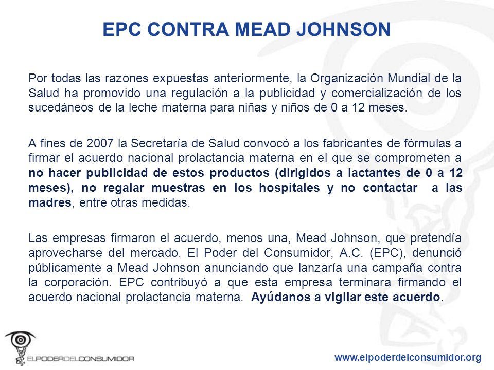 EPC CONTRA MEAD JOHNSON