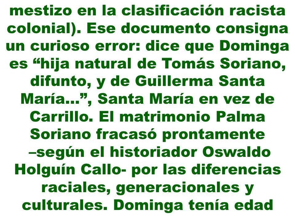 mestizo en la clasificación racista colonial)