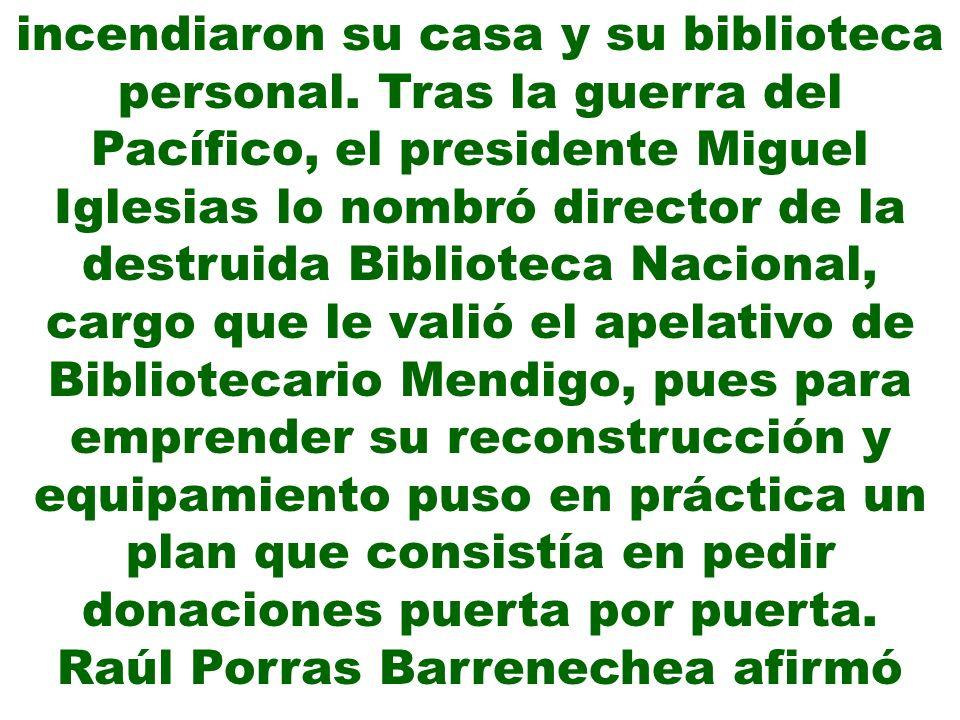 Raúl Porras Barrenechea afirmó